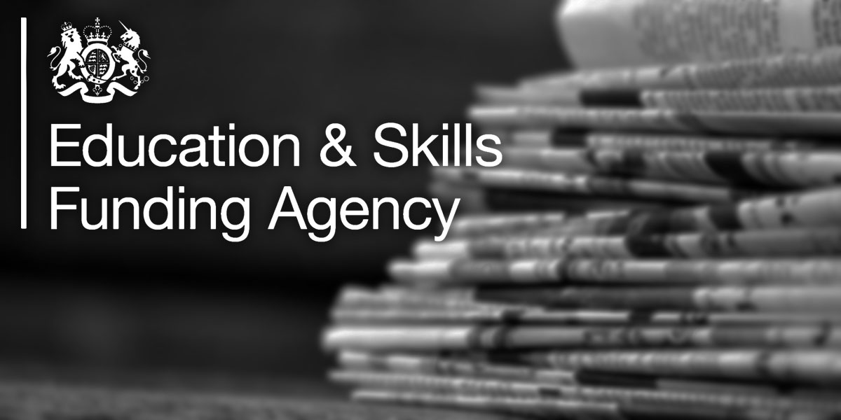 Education and skills funding agency update