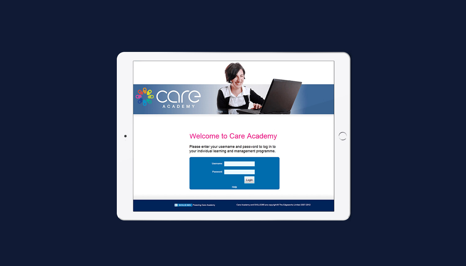 Care Academy login