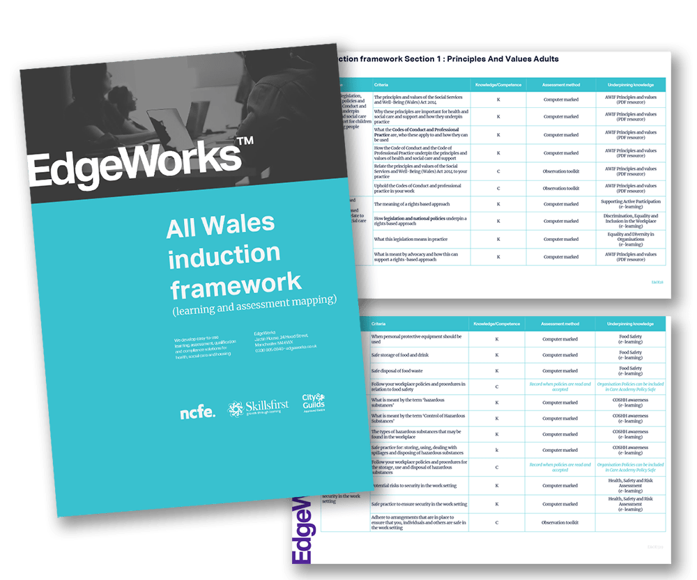 All Wales Induction Framework mapping document